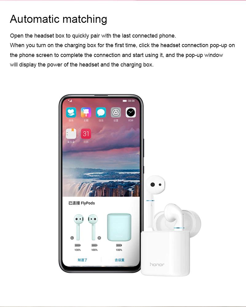 Huawei Honor Flypods Flypods Pro Wireless Bluetooth Earphone with Dustproof Waterproof Headsets